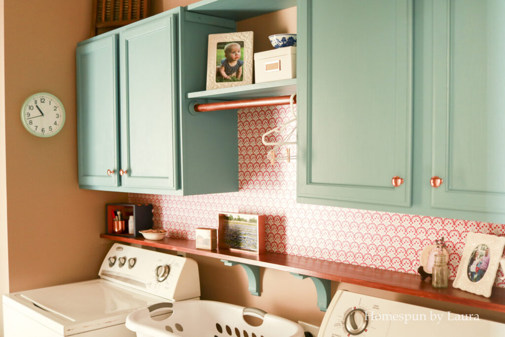 $100 DIY colorful laundry room reveal