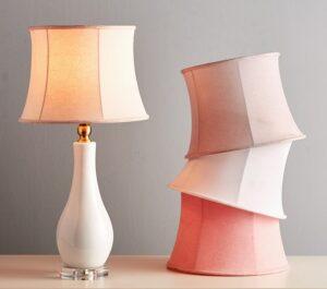 Pottery Barn Kids Vivian pink bell lampshade