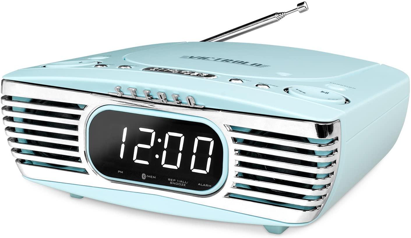 Victrola Retro Bluetooth/CD Player/Alarm Clock