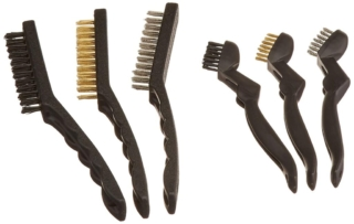6-pack of Wire and Nylon Brushes