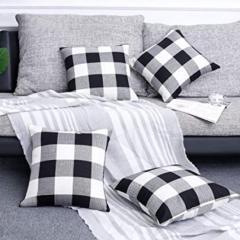 Black-White Gingham-Buffalo Check Pillows