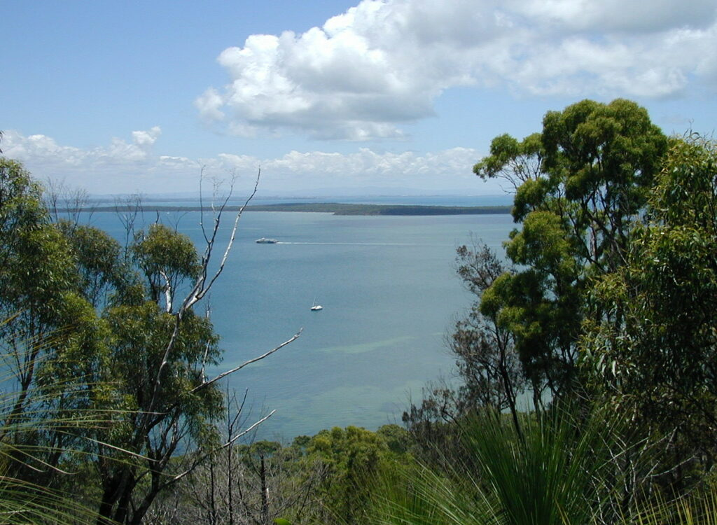 Moreton Bay, Peel Island and Brisbane from the Lookout