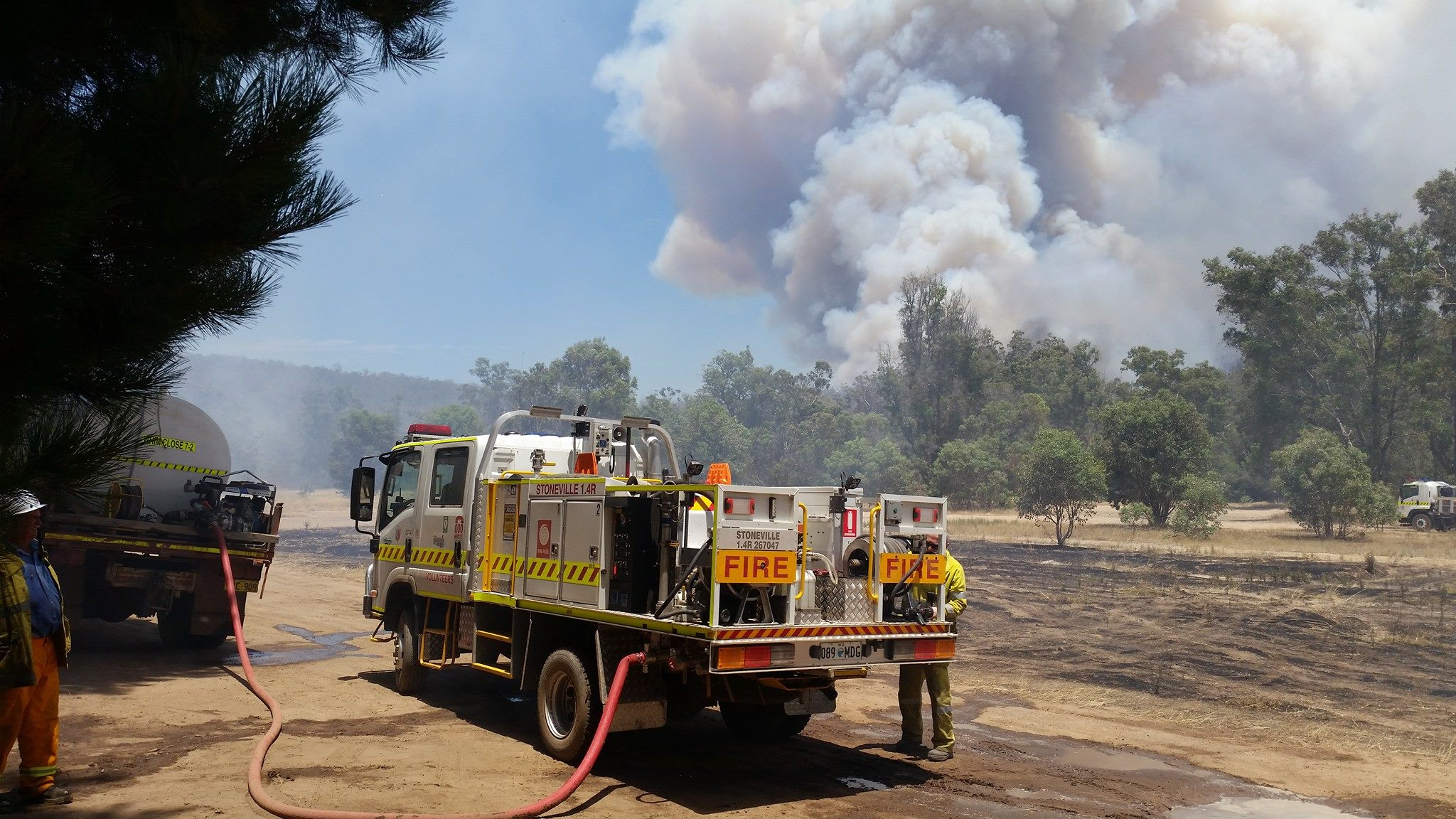 The Stoneville VBFB in action at the Mundaring fire 14-01-2018. Photo: Facebook