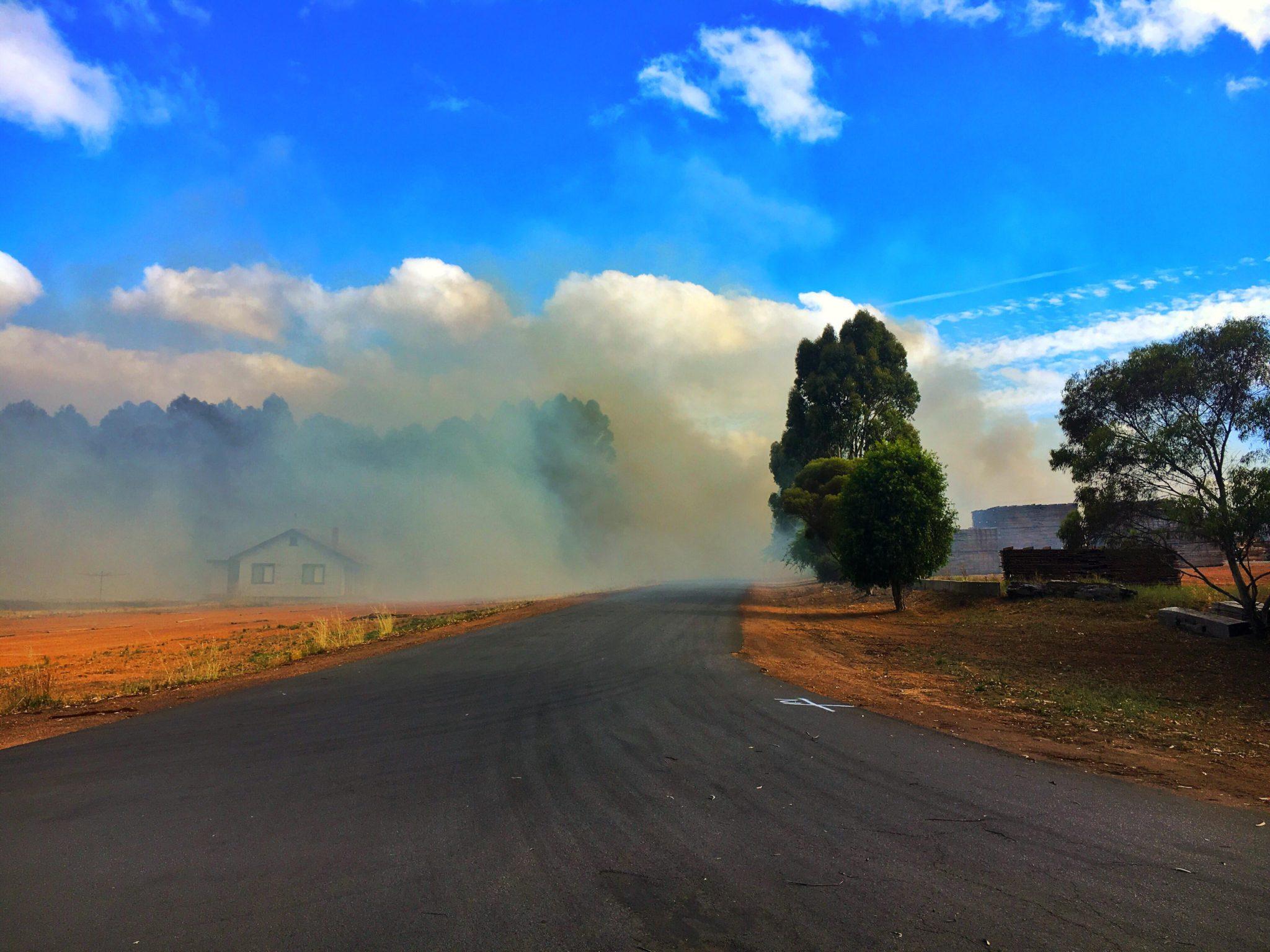 Greenbushes Timber Mill fire Saturday 6 January 2018. Photo Hester Brook Lieutenant