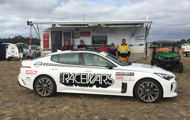Racewars 2018 Coordinator and some of the Bush Fire Brigade Volunteers who helped out on the weekend