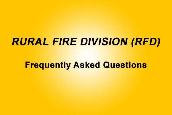 AVBFB releases Rural Fire Division FAQ