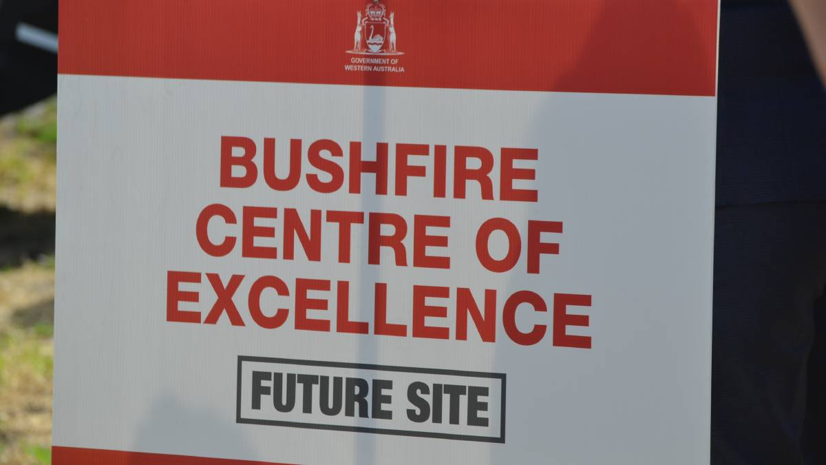 At the announcement of the decision to build the Western Australian Bushfire Centre of Excellence in the Shire of Murray. Photos: Gareth McKnight/Mandurah Mail