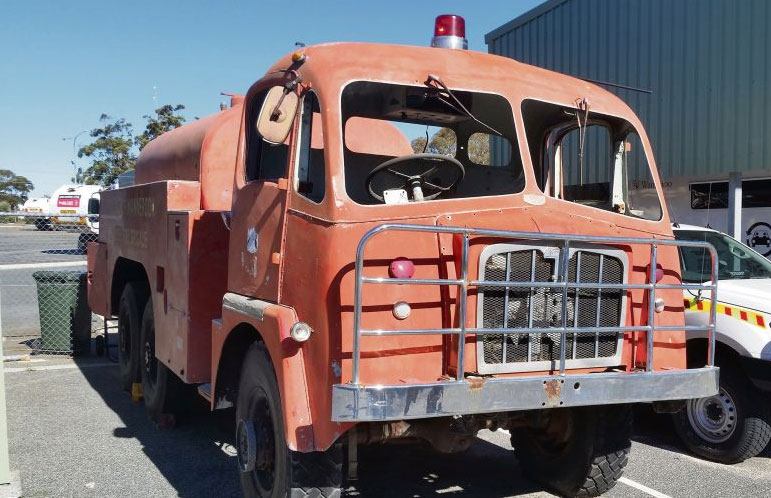 The Thornycroft fire truck has been stored at the Wanneroo Central Bush Fire Brigade fire station. Pictures: City of Wanneroo