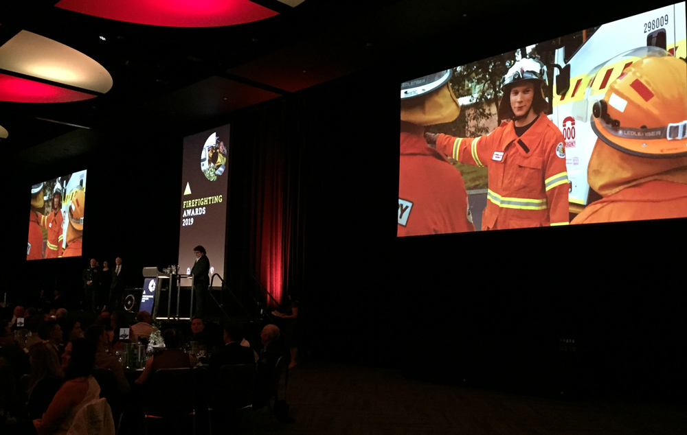 Jarred Kowal from Bunbury VBFB and VFRS won the Youth Achievement Award at the 2019 Fire and Emergency Services Gala Awards night 7 September 2019 Perth Convention and Exhibition Centre
