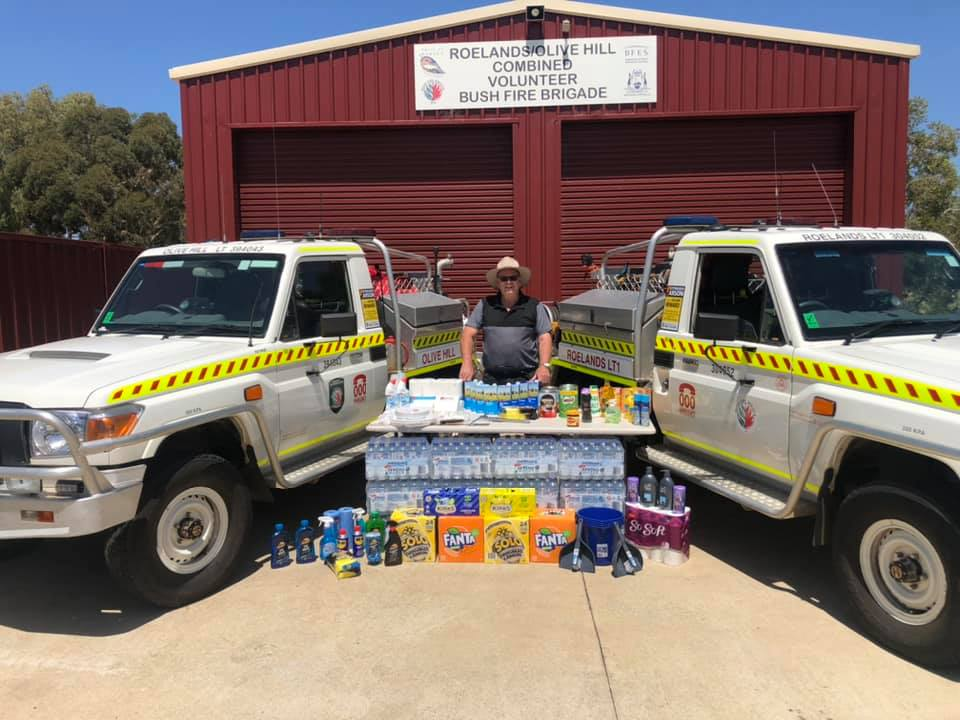 Supplies purchased by Roelands/Olive Hill Combined Volunteer Bush Fire Brigade using the $500 Coles Gift Card