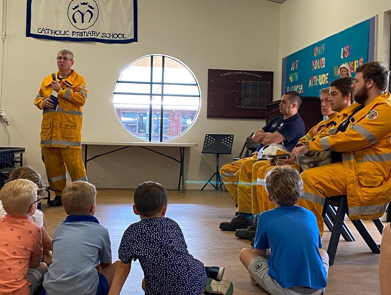 Bunbury Volunteer Bush Fire Brigade school visit – diverse and invaluable