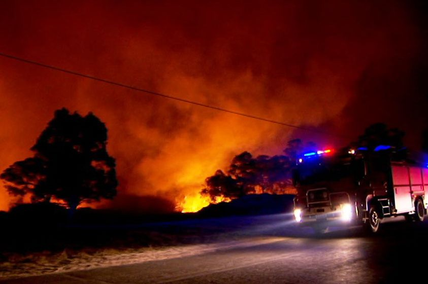 The training of new volunteer firefighters has been impacted by COVID-19.(ABC News: Stephen Cavenagh)