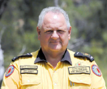 Bushfire Volunteers' President Dave Gossage AFSM. Photo: Cally Dupe