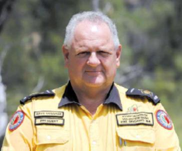 Bushfire Volunteers' President Dave Gossage AFSM. Photo: Cally Dupe