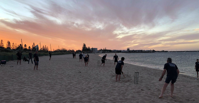 Bonding & Beach Cricket: Bunbury Volunteer Bush Fire Brigade