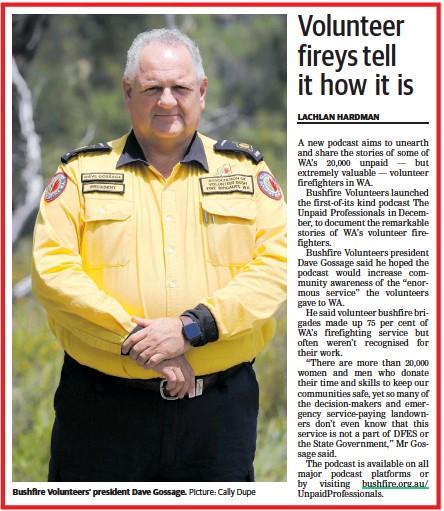 Countryman: Volunteer fireys tell it how it is