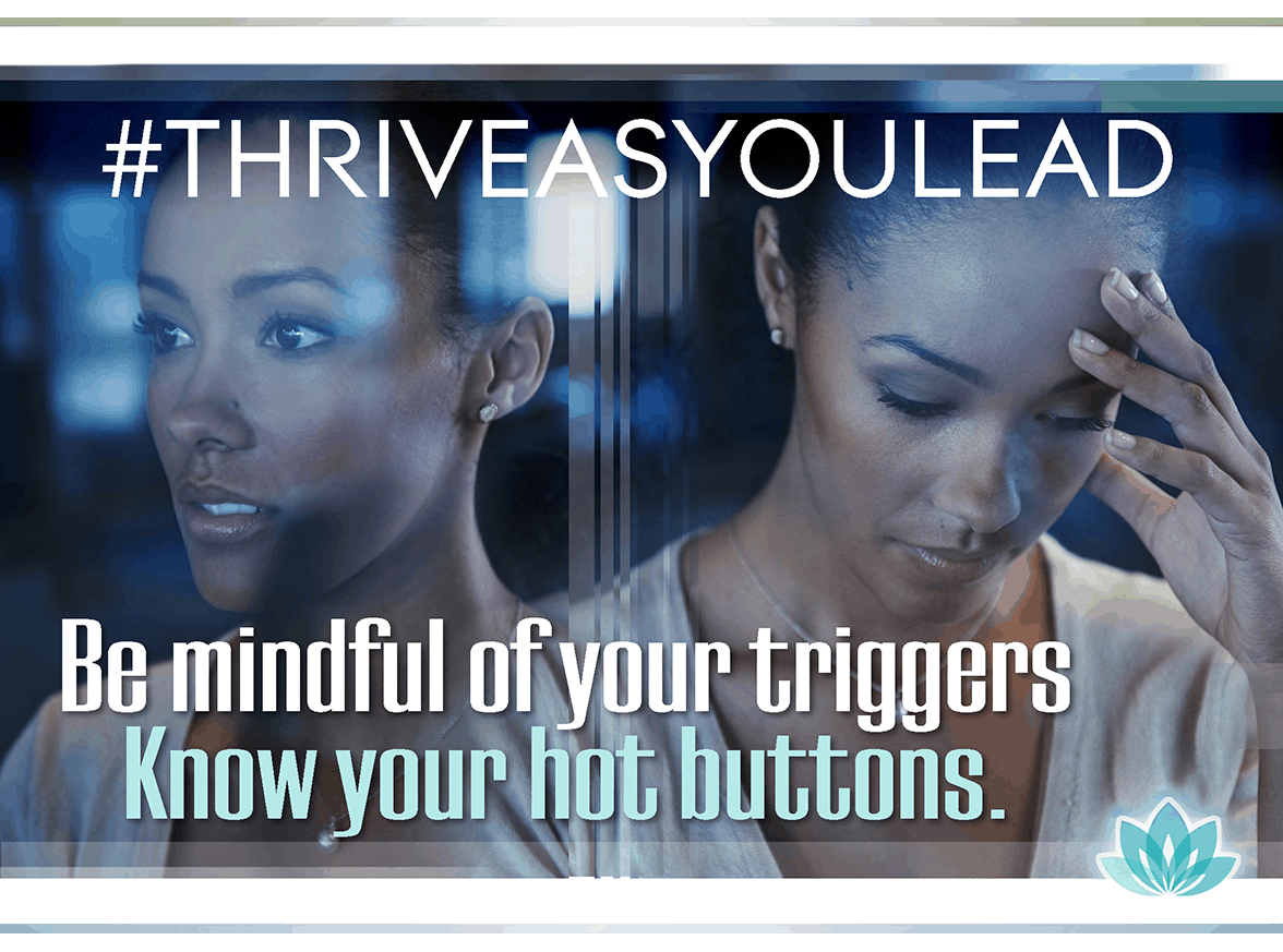 Get in touch with your emotional hot triggers then adjust your response to meet career challenges