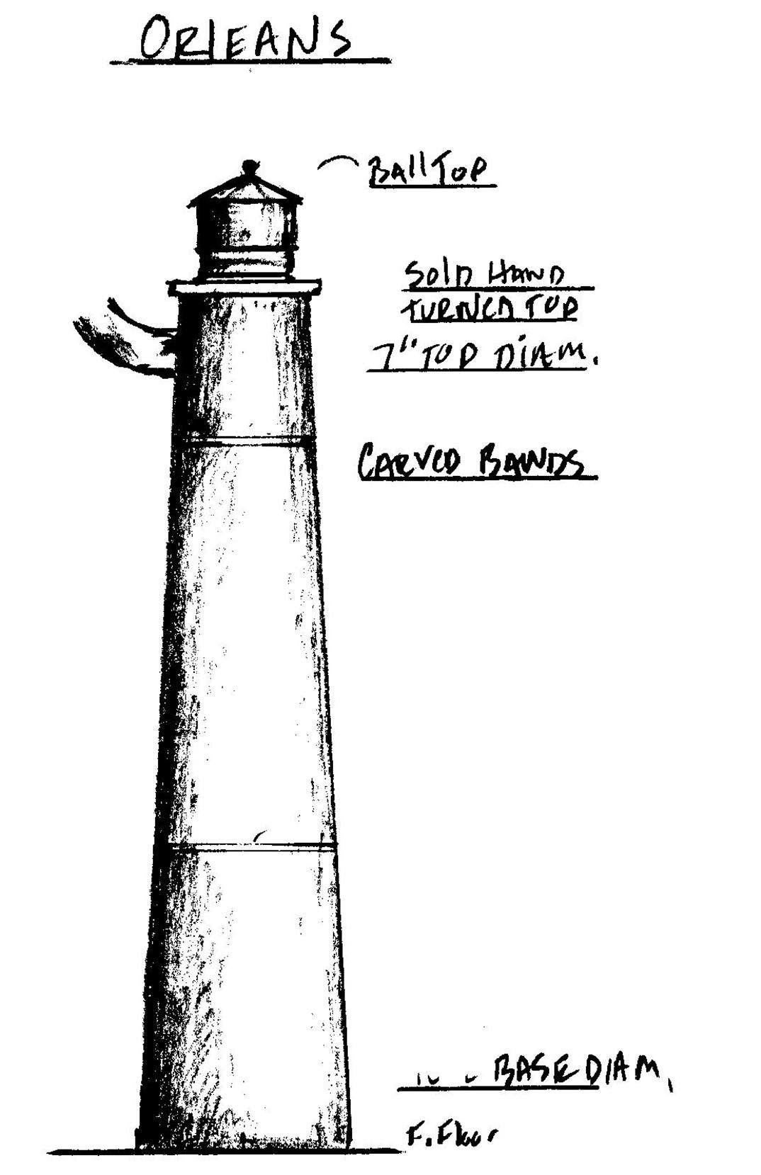 orleans cape cod massachusetts lighthouse newel post