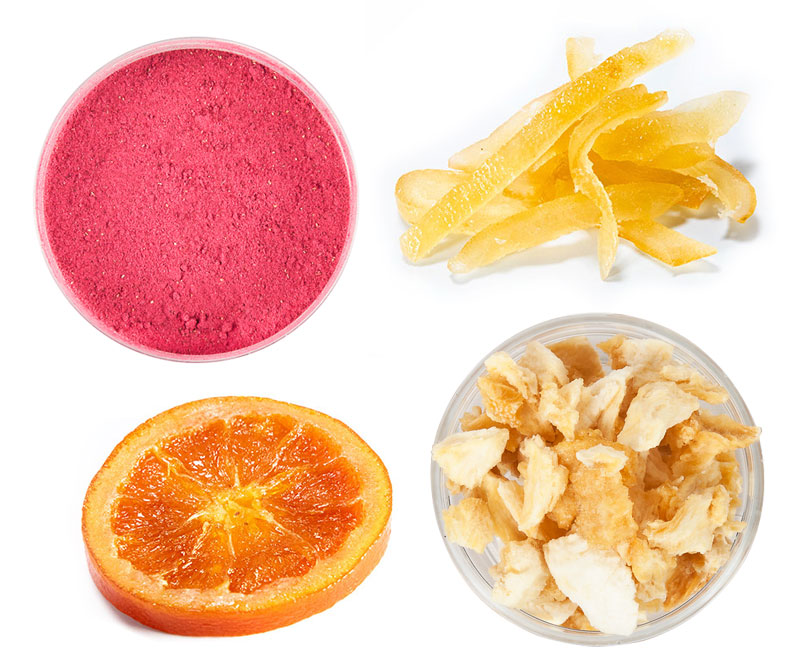 Freeze dried and candied fruit