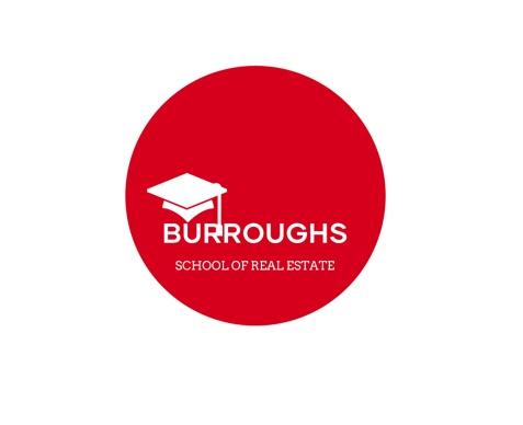 Burroughs School of Real Estate logo, branding for Real estate school