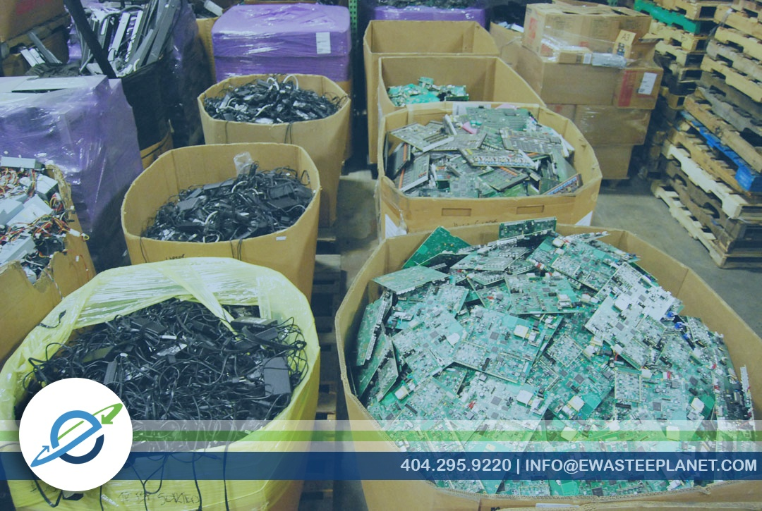 Electronics recycling sorting process