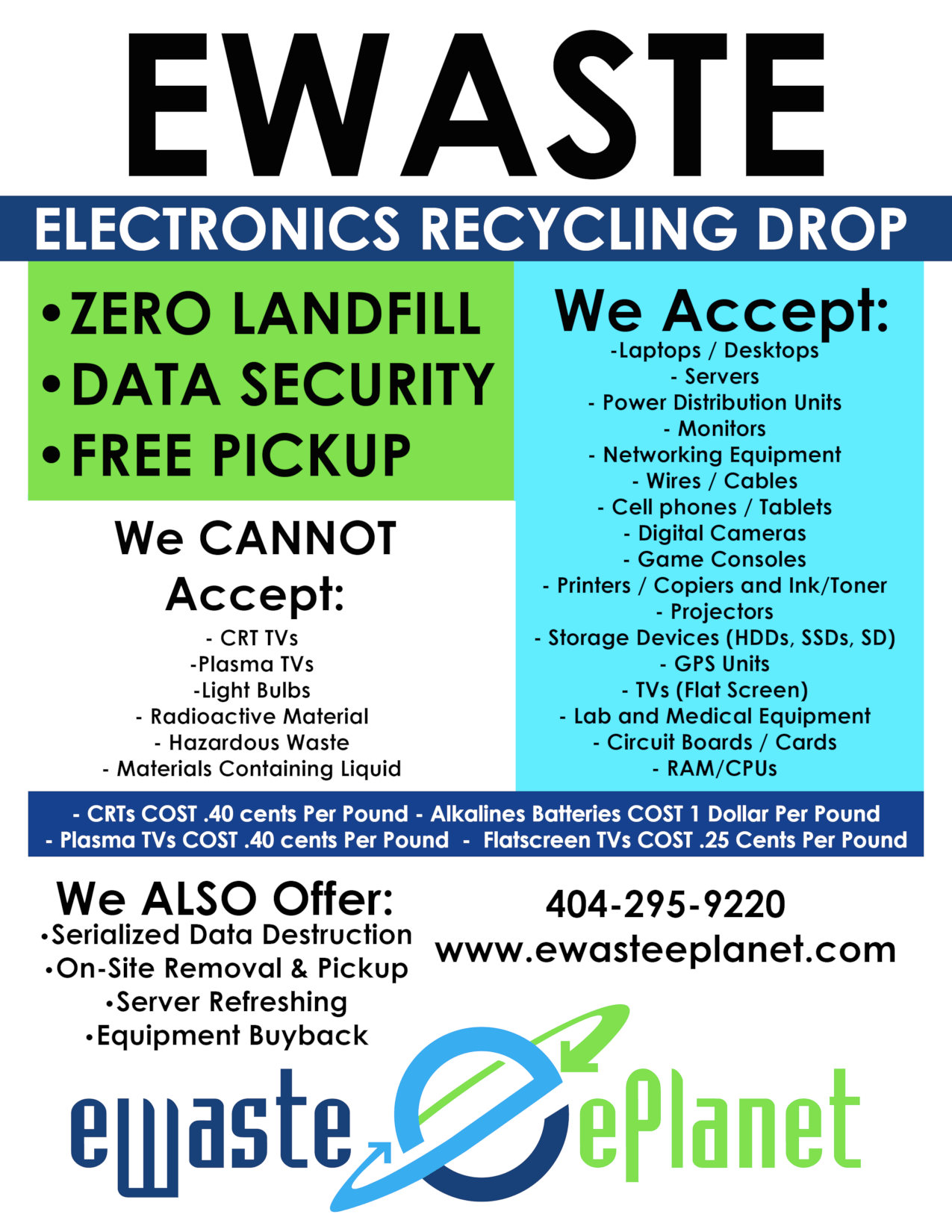 Recycling Services we offer Flyer Atlanta Georgia