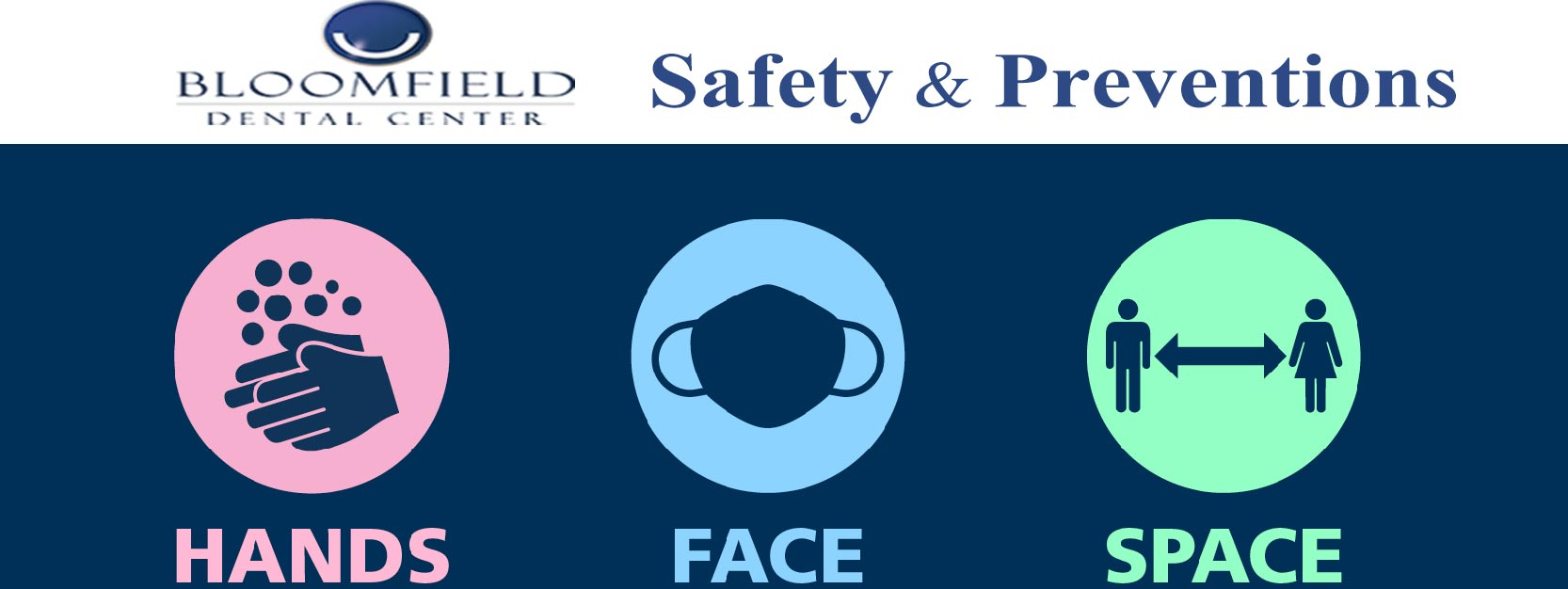 COVID SAFETY AND VISITOR INFORMATION | Bloomfield Dental Center