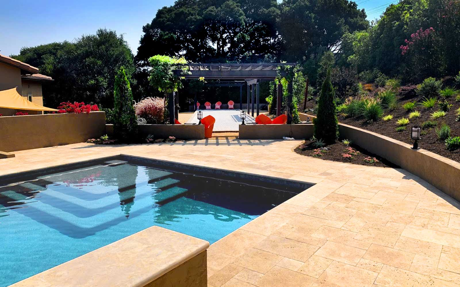 pool and bocce