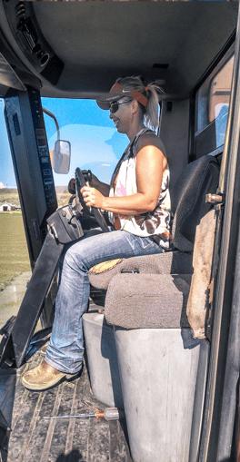 Chelsea Shearer harvesting mint