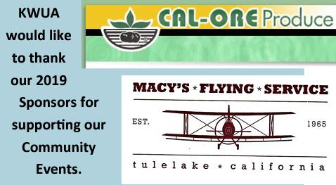 KWUA Sponsors - Macy's Flying Service and Cal-Ore
