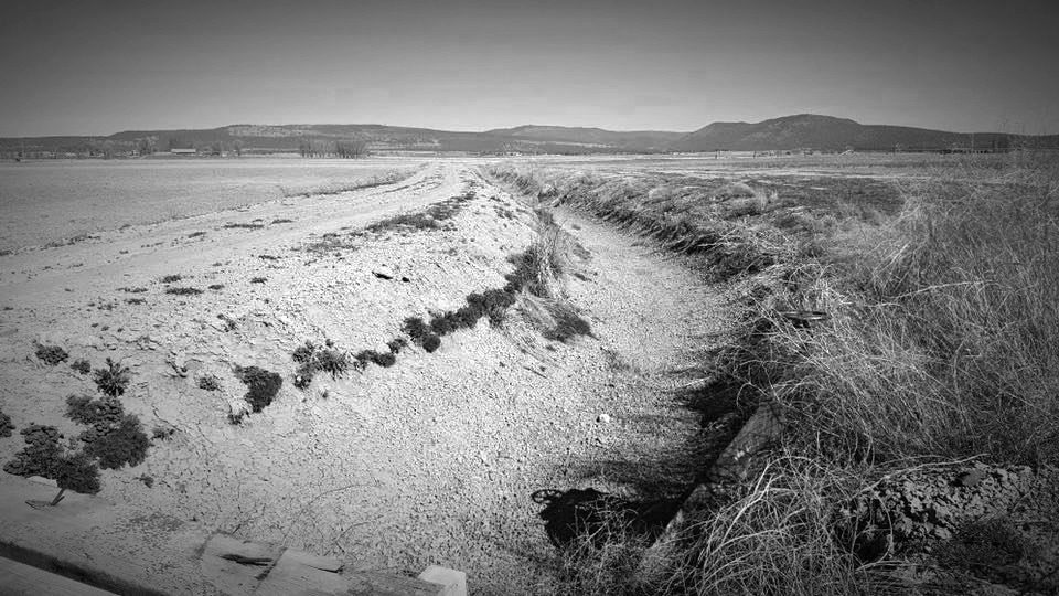 Dry ditch in Poe Valley, Klamath County, OR.