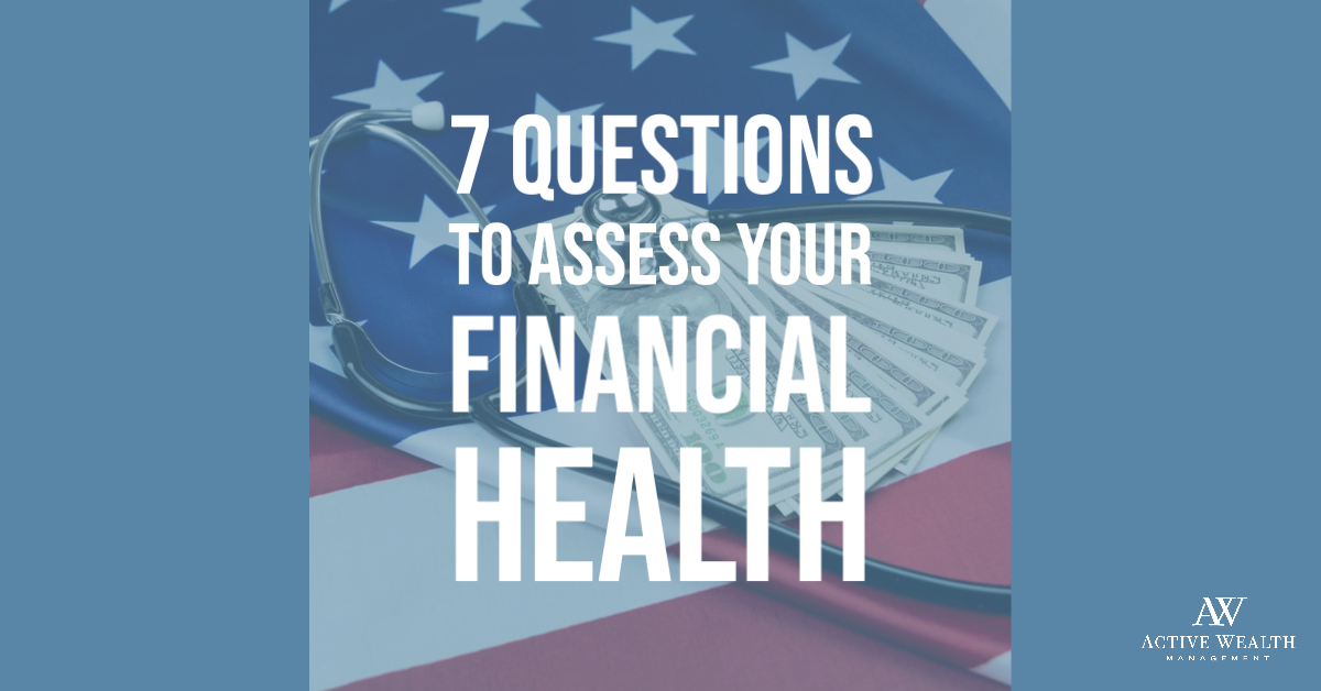 Don't neglect your financial health! Check up on yourself and make changes if necessary.