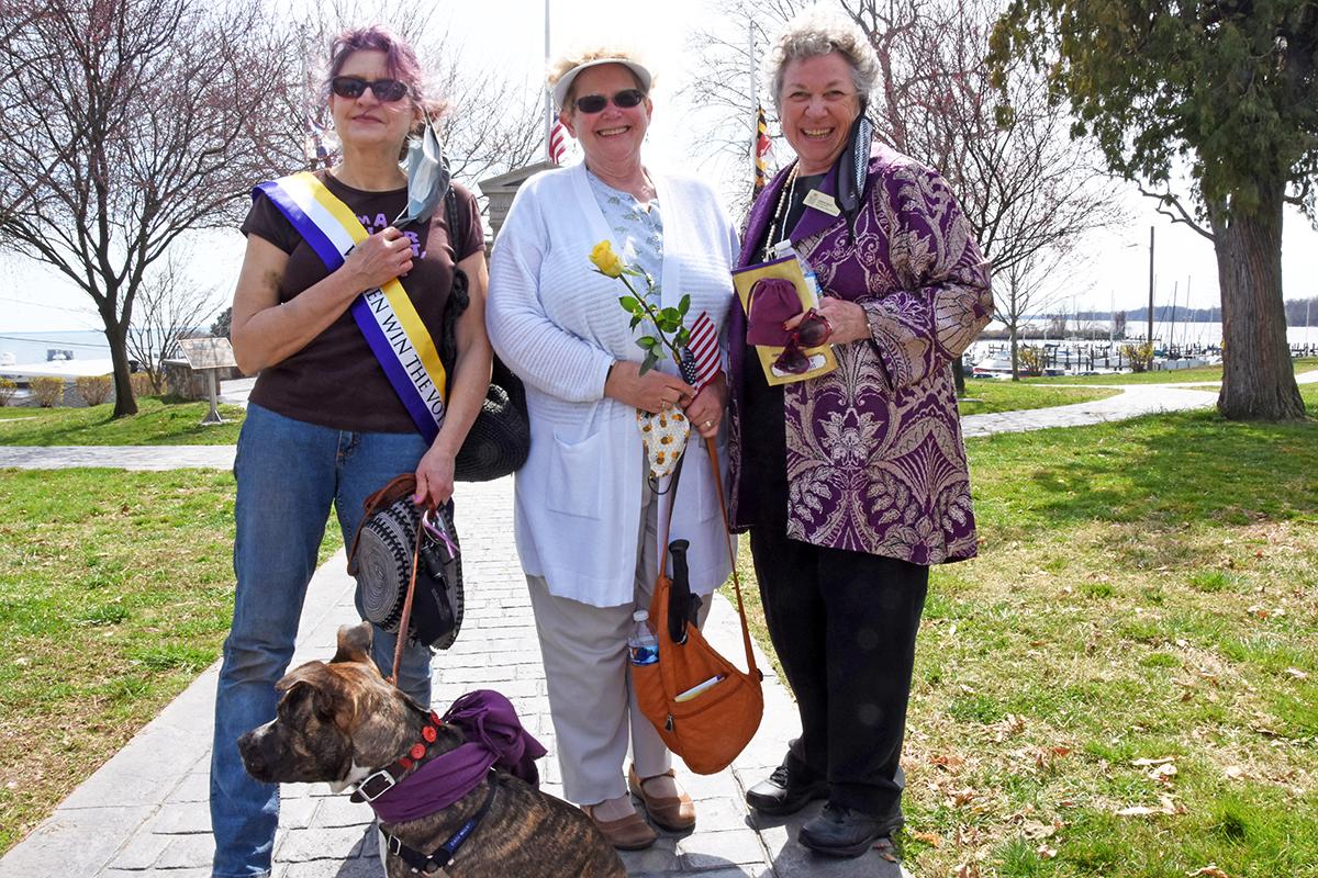 Christine Valerian, Bea Dane and Diana Bailey (Maryland Women's Heritage Center)