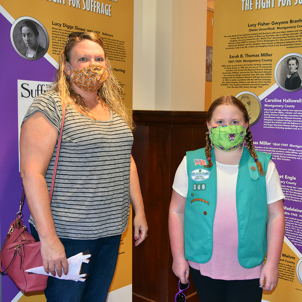 A girl scout and her mother at Havre de grace's event