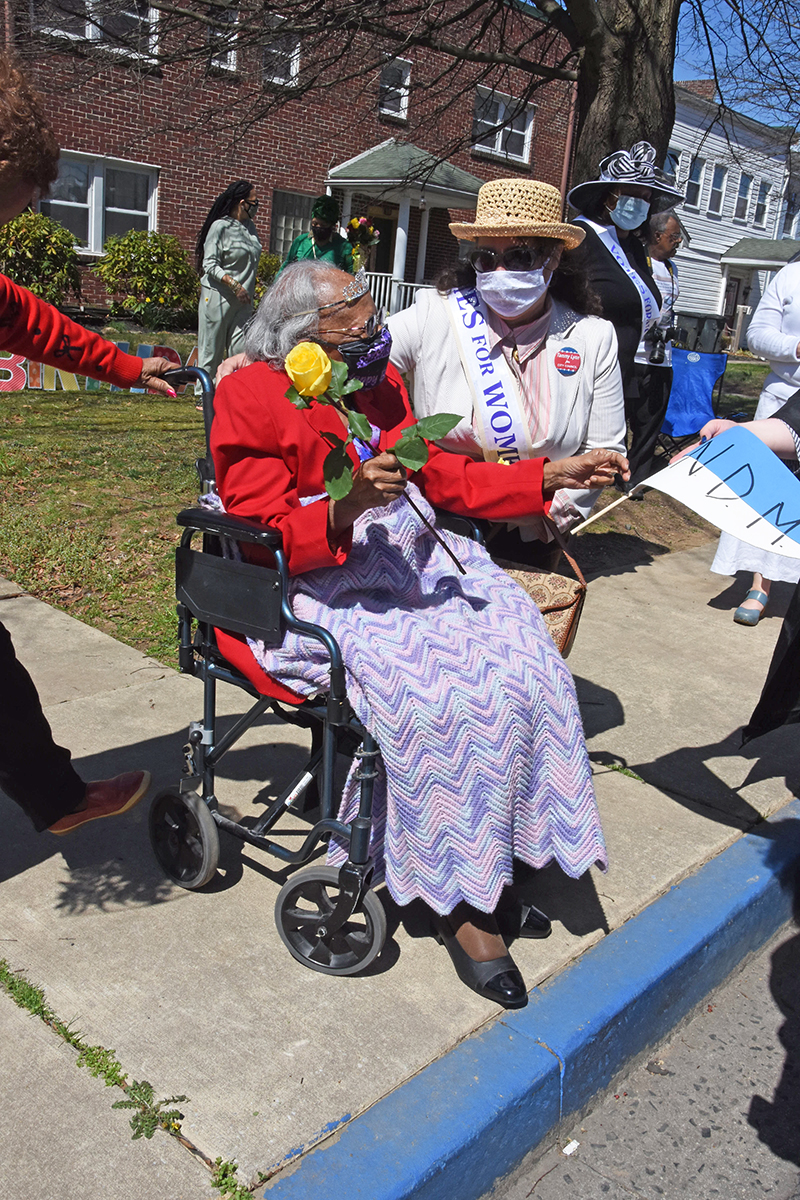 During the parade the crowd stopped along Union Avenue to sing happy birthday to resident Mabel Hart, who was turning 102.