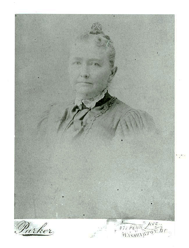 Historic photo of Mary Bentley Thomas dated 1896 taken by Parker Company, Washington, DC