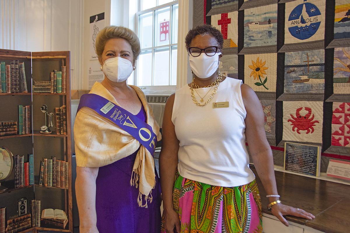 Kate Stevenson and Danita Terry (MWHC board members