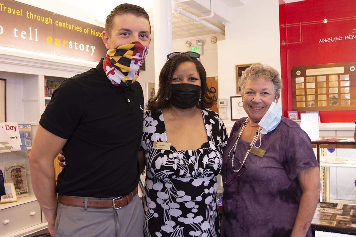 Matt Scales(Visit Maryland), Kalin Thomas and Diana Bailey (MWHC)