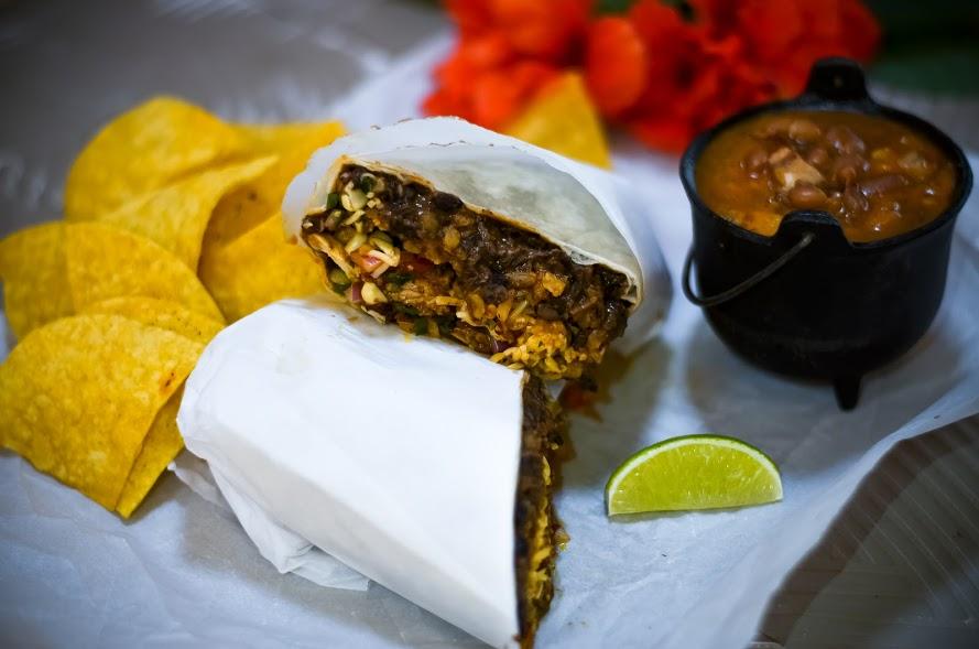 House-Made Chorizo Burrito - Screaming Goat Taqueria