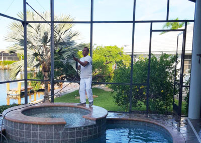 Pressure Washing: pool cage - aceperformanceplus.com