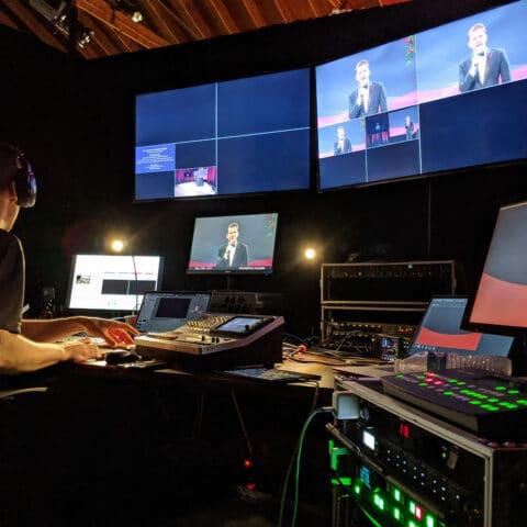 livestream technician and equipment