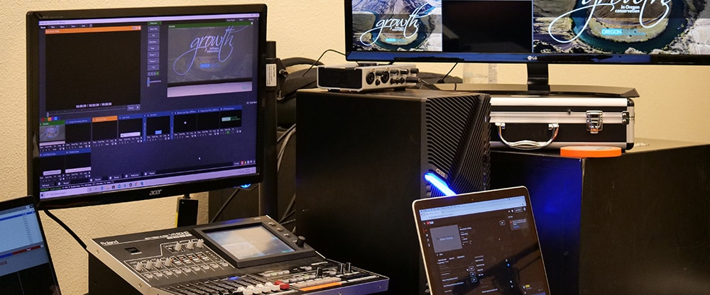 livestreaming and virtual event production equipment