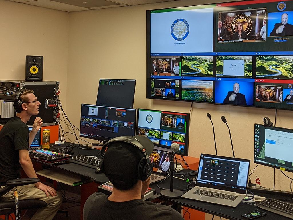 Oregon Governor Kate Brown Hosts a Livestream Press Conferenc