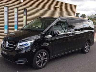 flybus minivan fleet mercedes v-class black color 7 seater