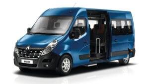 flybus minibus hire fleet masterbus 11 seater navy color
