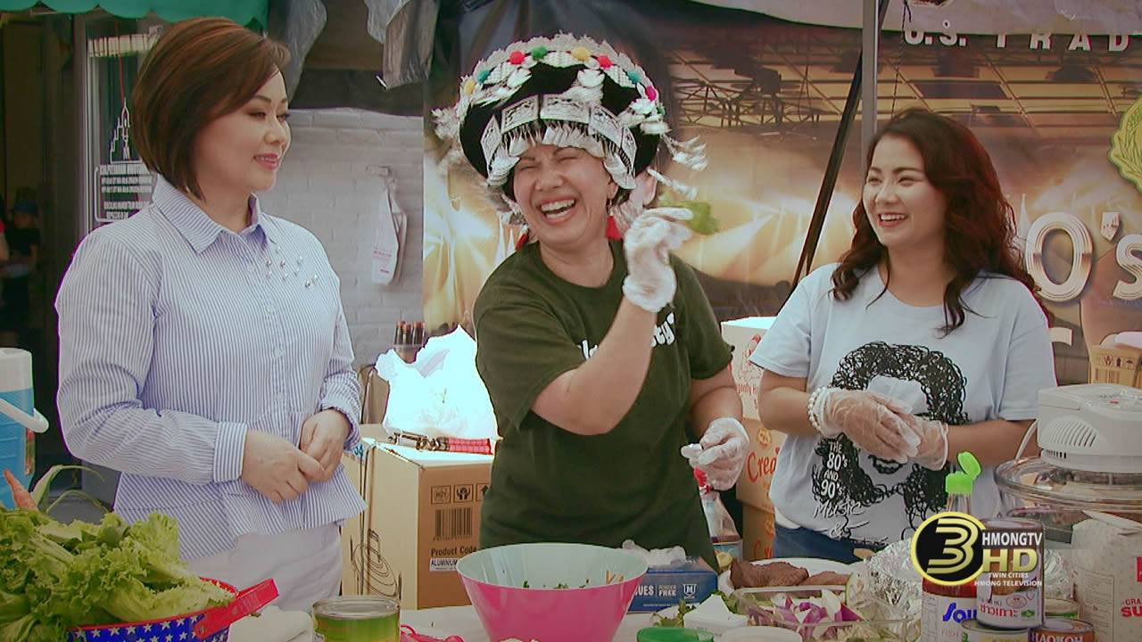 Cooking with Maly Xiong at Hmongtown.