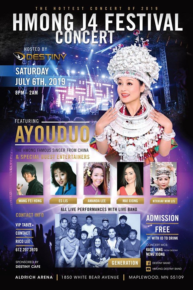 HMONG CHINESE SINGER WILL BE VISITING HMONG COMMUNITY IN THE US FOR THE FIRST TIME.