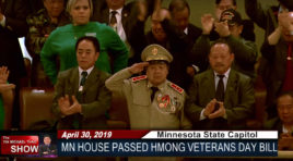 HMONG VETERANS MEMORIAL DAY BILL PASSED IN THE MN HOUSE.