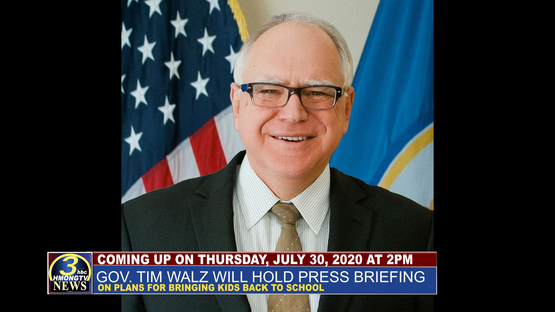 GOV. TIM WALZ EXPECTED TO TALK ABOUT PLANS FOR REOPENING SCHOOLS.