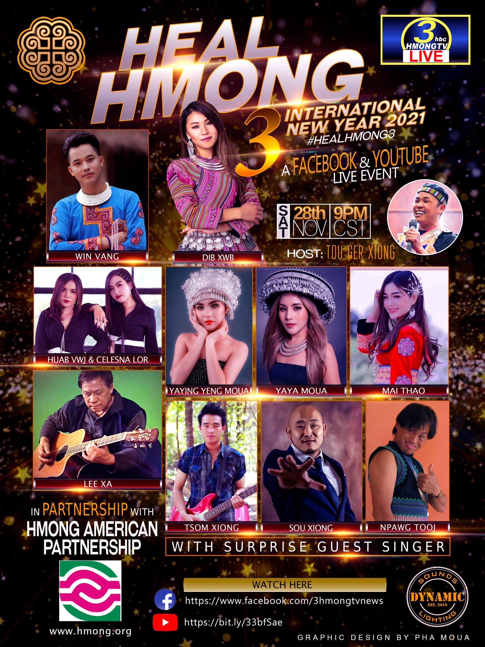 GET READY FOR HEALHMONG 3, NOVEMBER 28 AT 9PM CENTRAL